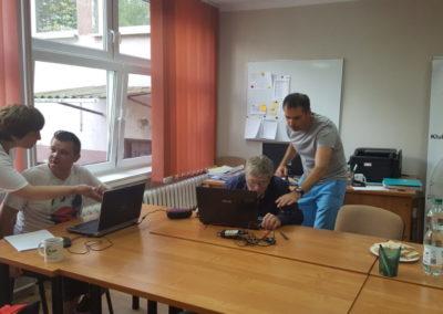 Warsztaty informatyczne wramach zajęć integracyjnych.