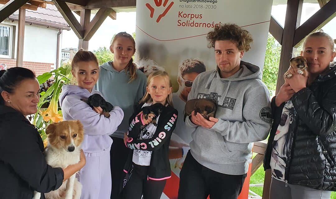 """Wizyta wSchronisku dla zwierząt wKosierzu – """"Regionalne Partnerstwo dla Wolontariatu – edycja 2021-2023"""""""