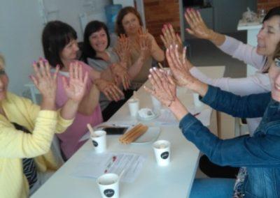 Warsztaty kosmetyczne w ramach zajęć integracyjnych.