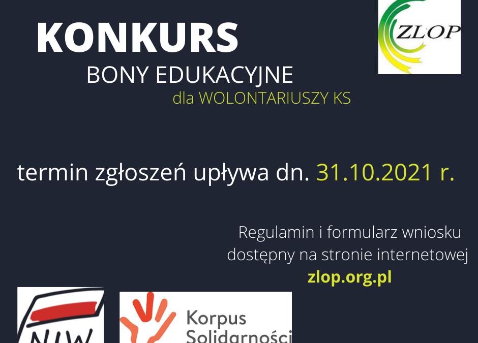 """""""Regionalne Partnerstwo dla Wolontariatu – edycja 2021-2023"""" – BONY EDUKACYJNE"""