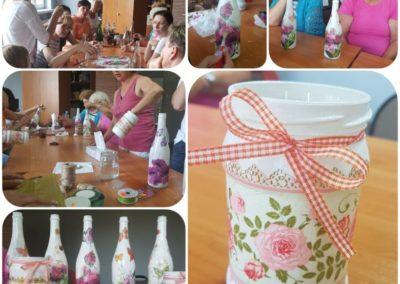 Warsztaty decoupage zorganizowane w PAS-Z w Leśniowie Wielkim miały na celu integrację oraz pobudzenie kreatywności uczestniczek projektu.